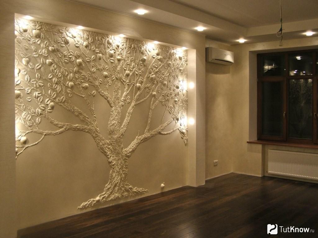 Современные декоративные элементы для интерьера: Красота и практичность лепнина на стене скрывает недочеты отделки
