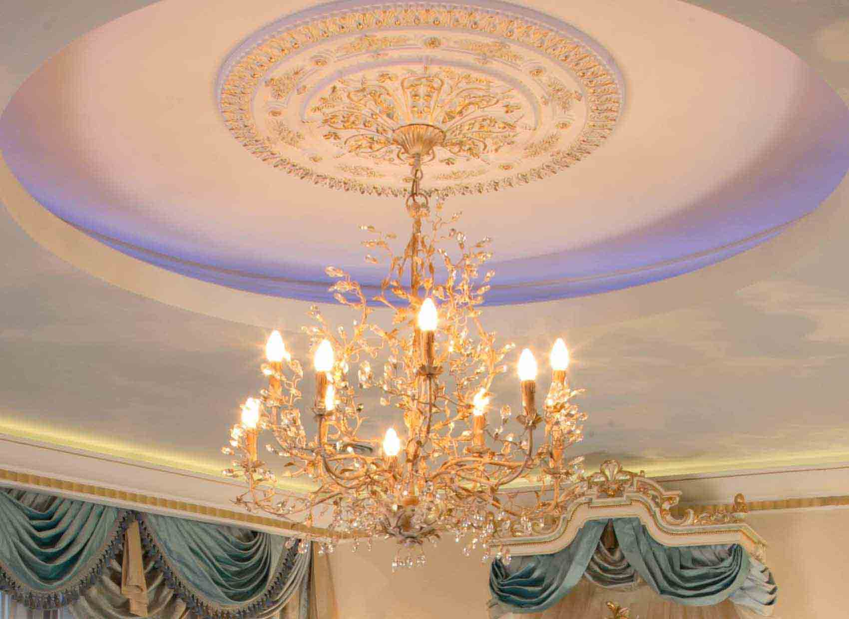 Декоративные потолочные розетки под люстру